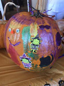 pumpkin decorated